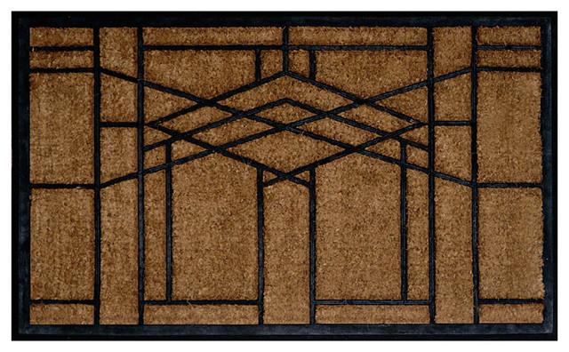 Frank lloyd wright robie window design doormat craftsman doormats by maclin studio - Frank lloyd wright area rugs ...