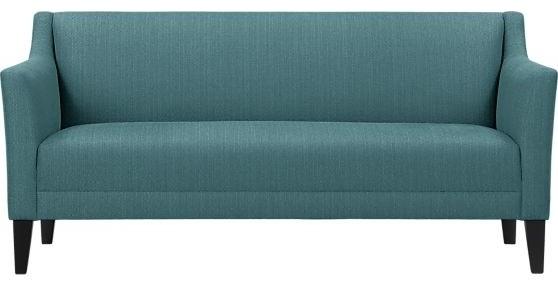 Margot sofa turquoise fargo modern sofas by crate barrel - Turquoise sofa ...