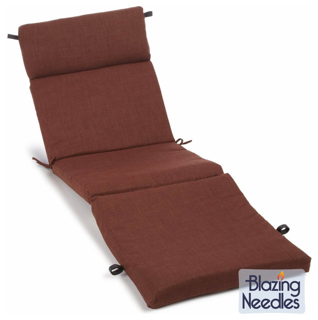 Blazing needles earthtone 72 inch spun poly outdoor chaise for Blazing needles chaise cushion