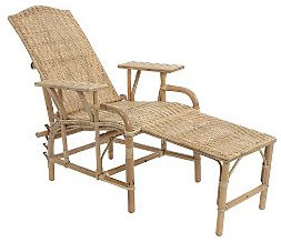 rattan lounger traditional outdoor chaise lounges by the conran shop. Black Bedroom Furniture Sets. Home Design Ideas