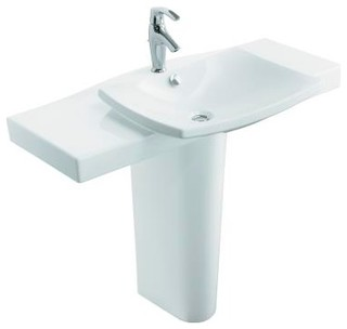 KOHLER K 18691 1 0 Escale Pedestal Lavatory With Single Hole Faucet Drilling
