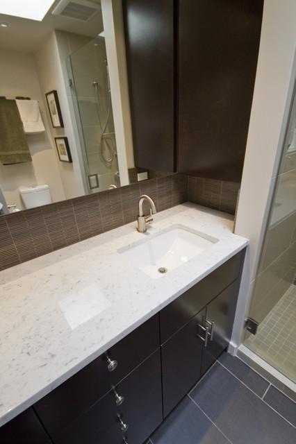 Capitol hill condo bathroom remodel modern seattle for Bath remodel seattle