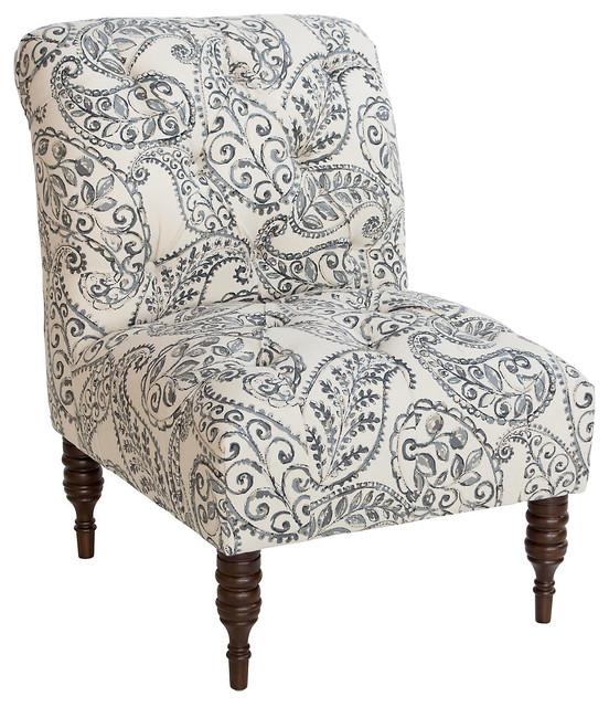 eloise tufted chair graphite contemporain fauteuil. Black Bedroom Furniture Sets. Home Design Ideas