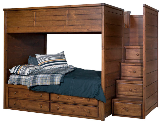 Bed Over Stair Box Google Search: Lea Elite Logan County Bunk/ Loft Bed With Captain Box