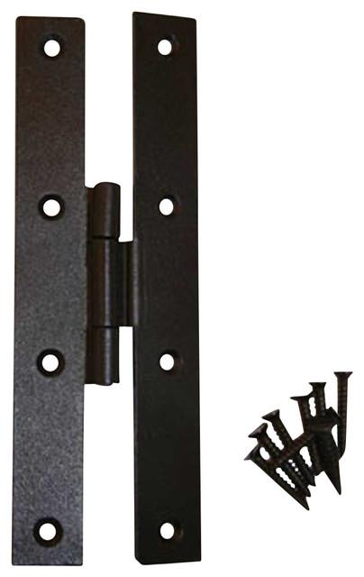 "Door Hinges Black Wrought Iron H 7"" w/ 3/8"" Offset modern-hinges"