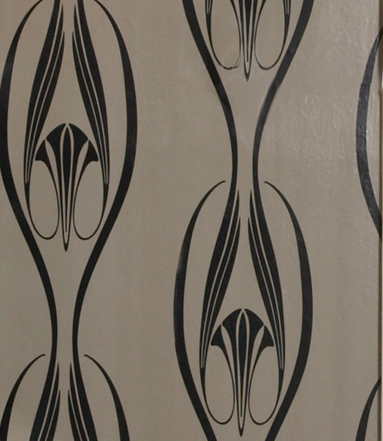 etta self adhesive removable wallpaper black and clay