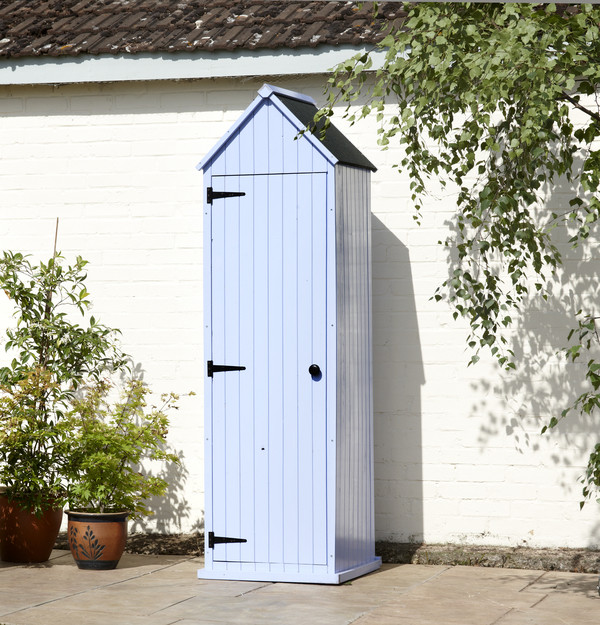 Whitstable 39 beach hut 39 garden shed blue for Storage huts for garden