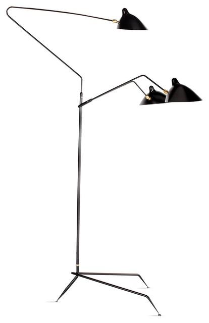Serge mouille three arm floor lamp modern floor lamps Serge mouille three arm floor lamp