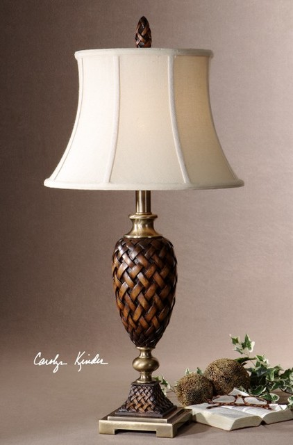 Salt Lamps In The Bedroom : Uttermost - Weldon Table Lamp in Weathered Wood - 26715 - Traditional - Table Lamps - salt lake ...