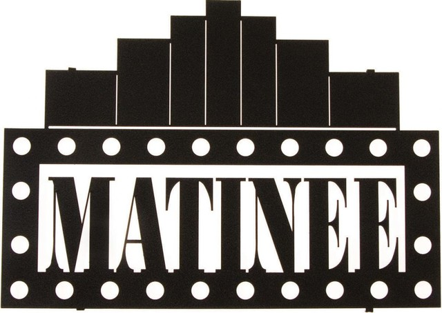 Contemporary office furniture design - Metal Wall Art Movie Matinee Sign Rustic Novelty Signs By