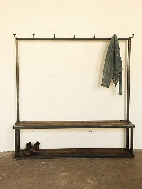 Coat Rack Bench Industrial Hall Trees By Strawser Smith