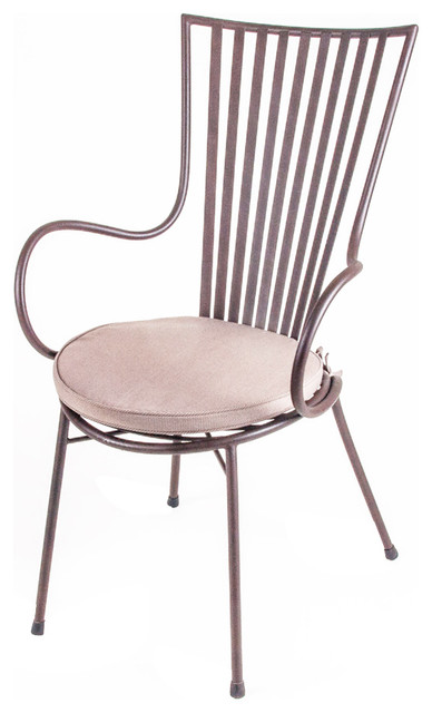 Wrought Iron Arm Chairs ~ New rustics mosaic arm chair in wrought iron traditional