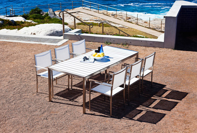 Soho White Hpcl Dining Set Modern Outdoor Dining