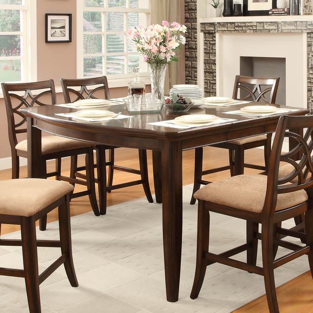 Counter Height Table Uk : ... Counter Height Table in Rich Brown Cherry contemporary-dining-tables