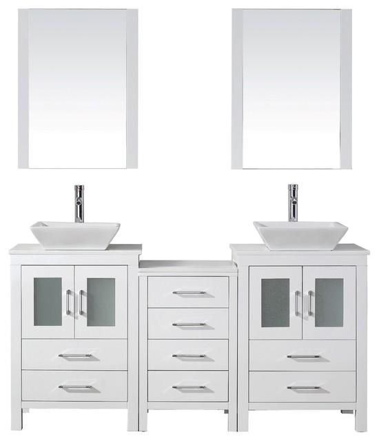 66 Quot Bbd270 Double Sink Vanity W Marble Top Porcelain 66in Bradley Vanity 66inch Double