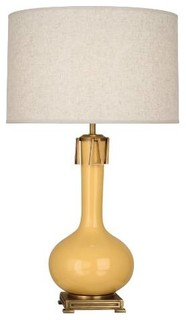 robert abbey su992 athena 1 light table lamp in sunset glazed with