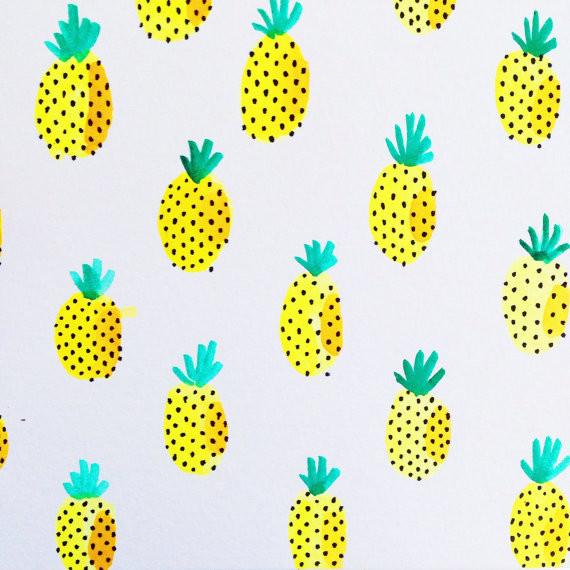 Bright Pineapple Print...