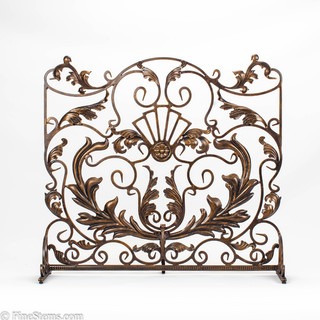 Bronze Gold Fireplace Screen Traditional Fireplace Screens Chicago By Finestems