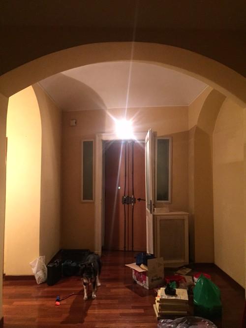 Illuminazione salotto, soffitto a volta