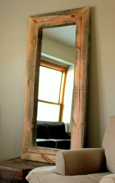 reclaimed wood mirror 2