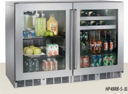 """HP48RBS3L3R 48"""" 12 cu. ft. Capacity Stainless Steel Side-by-Side Counter Depth - Contemporary ..."""