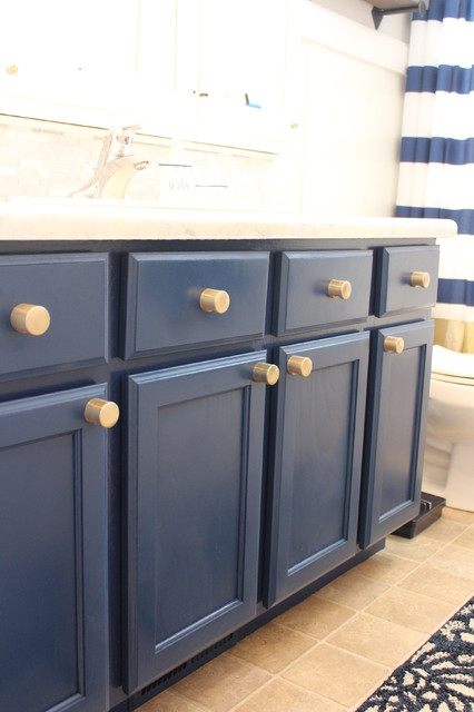 modern bathroom blue cabinets industrial bathroom salt lake city