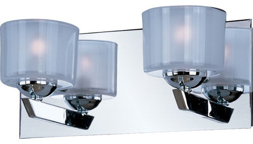 Chrome Bath Lighting Fixtures: Vortex Polished Chrome Two-Light Vanity Fixture