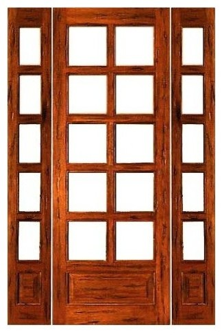 Prehung rustic 10 lite p b french solid wood ig glass for Solid patio doors