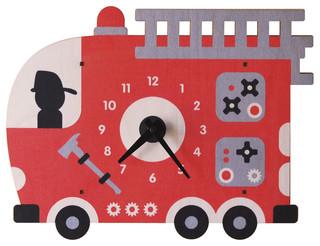 Fire Truck Wall Clock - Contemporary - Kids Clocks - by Modern Moose