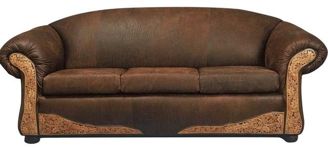 Santa Fe Leather Sofa Southwestern Sofas by Rustic  : southwestern sofas from www.houzz.com size 640 x 296 jpeg 50kB
