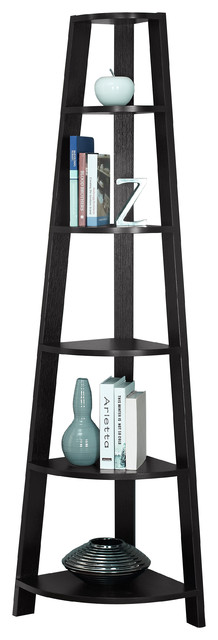 """Cappuccino 72"""" High Corner Accent Etagere - Contemporary - Bathroom Cabinets And Shelves - by ..."""