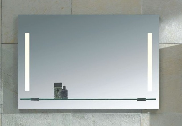 Mirror With Integrated Lighting Napoli Modern Bathroom Mirrors Dallas