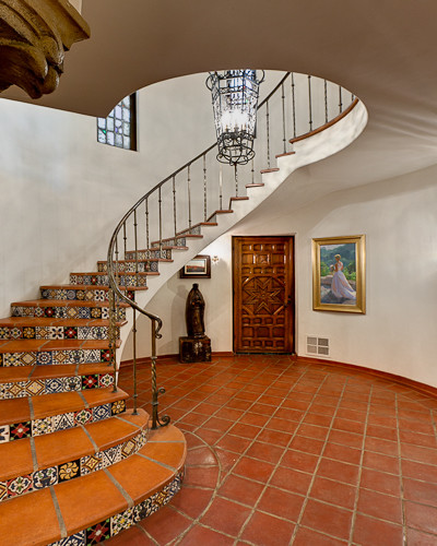 Historic Spanish Revival Mediterranean Staircase Los