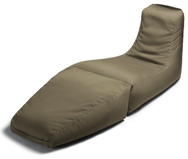 prado outdoor bean bag lounger taupe contemporary