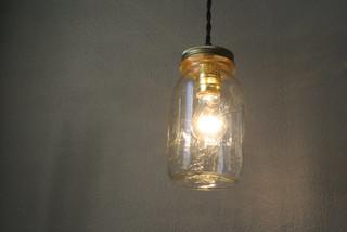 Mason jar pendant light for Houzz rustic lighting