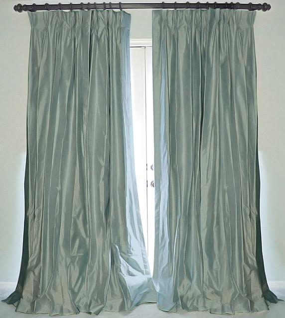 Blue Silk Curtains - Curtains Design Gallery