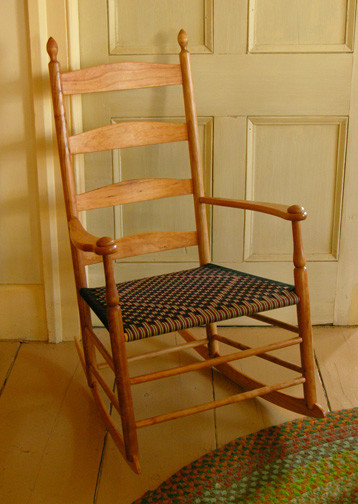Cherry Shaker Enfield Ladderback Rocking Chair