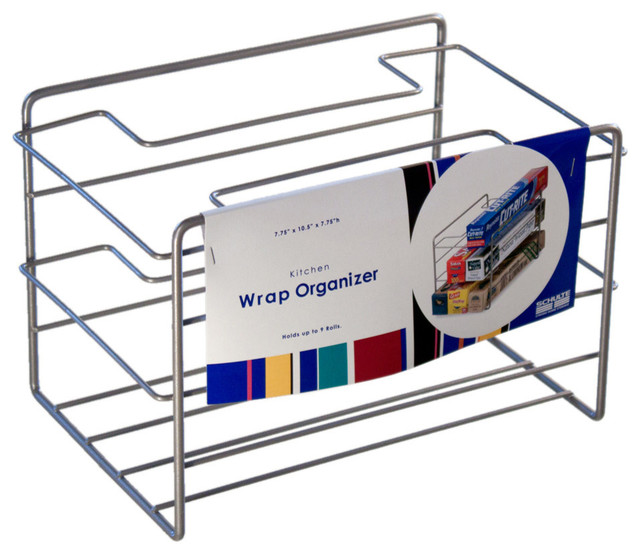 Kitchen Wrap Organizer, Nickel - Contemporary - Pantry And Cabinet Organizers - by Organize