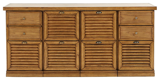 Sommerville 4-Cabinet Credenza - Traditional - Filing Cabinets - by Ballard Designs