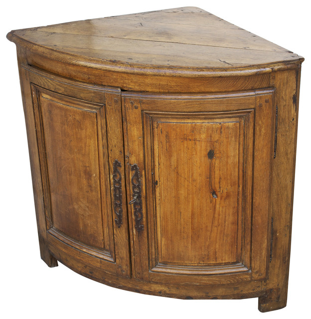 17th Century French Country Oak Corner Cabinet - Midcentury - Accent Chests And Cabinets - miami ...