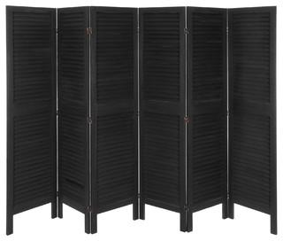 5 1 2 ft tall modern venetian room divider 6 panels. Black Bedroom Furniture Sets. Home Design Ideas