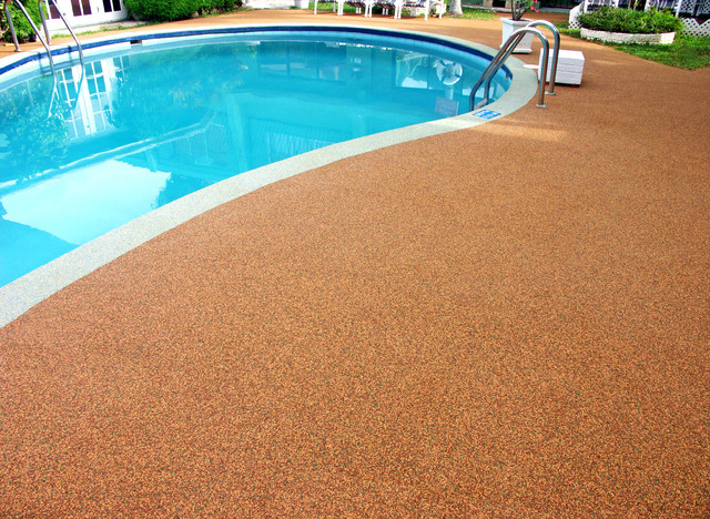 Re Surfaced Pool Deck By Rubaroc Rubber Safety Surfacing