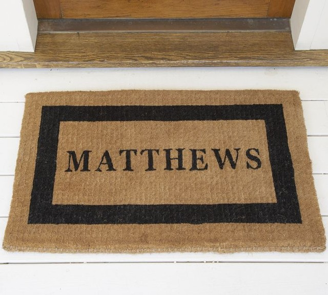 Personalized Doormat Traditional Doormats By Pottery