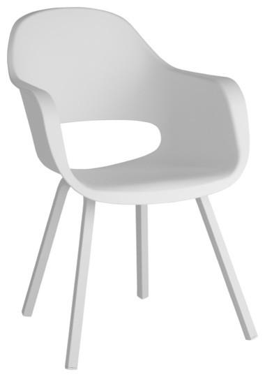 Fauteuil kota blanc contemporain chaise de jardin for Castorama fauteuil jardin
