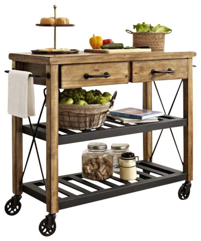 Roots Rack Industrial Kitchen Cart Farmhouse Kitchen Islands And Kitchen Carts By Pot
