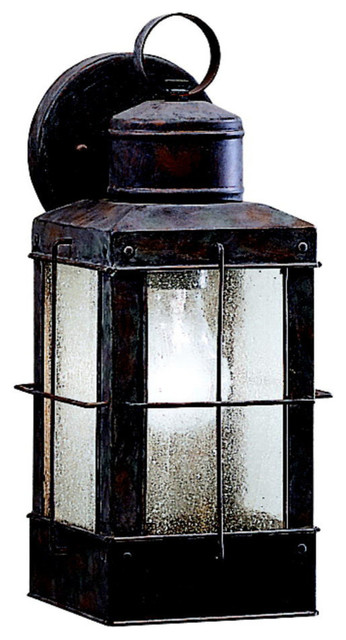 Exterior Brick Wall Lights : Kichler 1-Light Outdoor Fixture - Olde Brick Exterior - Rustic - Outdoor Wall Lights And Sconces