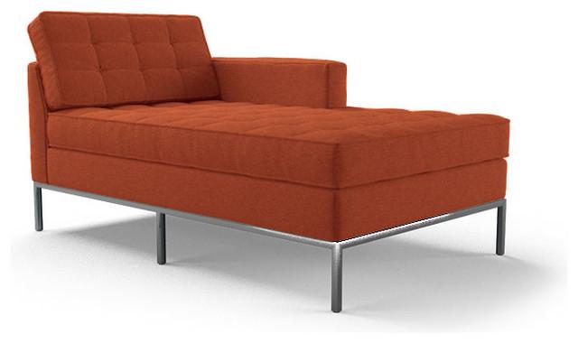 Franklin Single Arm Chaise Cordova Picante Orange Midcentury Indoor Cha