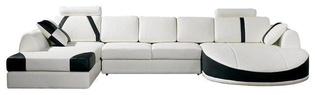 Ultra Modern Leather Sectional Sofa Contemporary