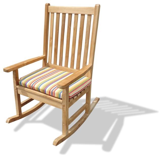 Valencia High Back Rocking Chair Grade A Teak Craftsman Outdoor Rocking