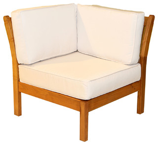 Kamea Outdoor Corner Chair Vanilla Contemporary Garden Lounge Chairs